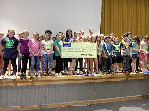 Phil Royal Legacy Check Presentation For Safety Patrol Student Tour to Washington, DC